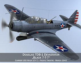 navy Douglas TDB-1 Devastator - 7T7 3D