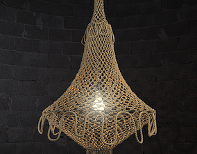 NATURAL JUTE HANGING CHANDELIER 3D model
