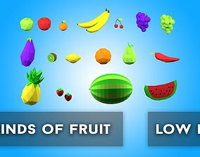 3D model Fruit Assets Low Poly