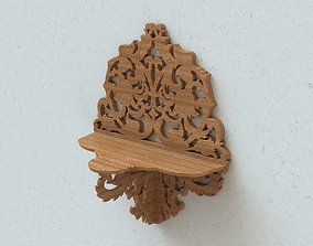 Carved wall shelf 3D printable model