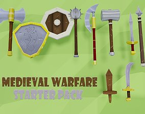Low Poly Medieval Weapons Pack 3D model