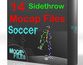 3D 12-Soccer football motion capture animations - 1