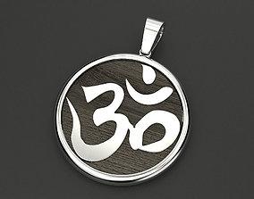 3D print model Pendant symbol omkara in Devanagari