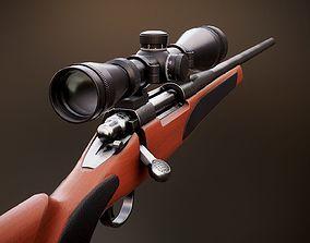 3D asset Remington 700