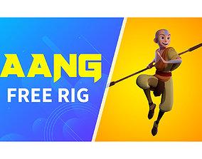3D model Aang Rig For Maya With Advanced Facial Controls
