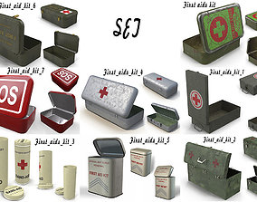 First aid kits Collection 3D model