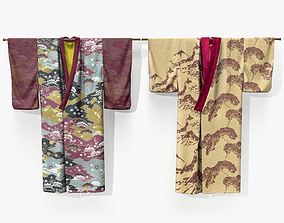 Hanging Kimono Lowpoly 3D model