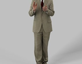 Michael A Business Man Standing While Clapping 3D asset