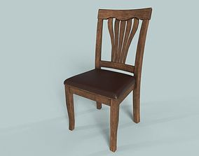 Wooden Chair PBR 3D model rigged