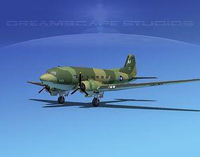 3D model Douglas C-47 Dakota USAF V09