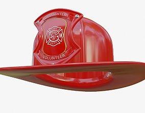 fire fighter helmet uv unwrapped 3D model