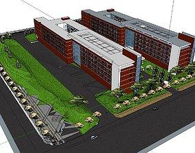 3D model Office-Teaching Building-Canteen 52