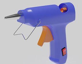 household 3D model Glue Gun