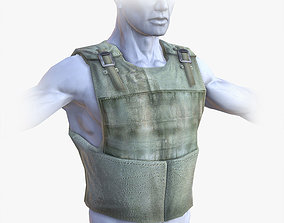 3D model Lowpoly Bullet-Proof Vest
