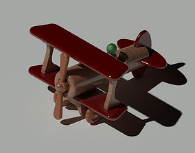 3D model wooden toy plane