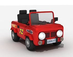 3d Toy Car Off-Road Model 4x4 Jeep VR / AR ready