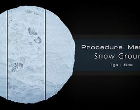 3D asset Procedural Snow Material 3 Variations