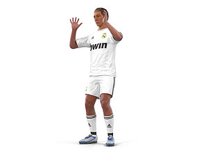 3D Soccer Player Real Madrid Rigged 2