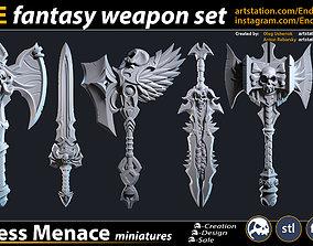 3dprinting FREE Fantasy Weapon Set 3D print model
