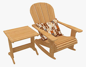 3D model Outdoor Chair And Table 01