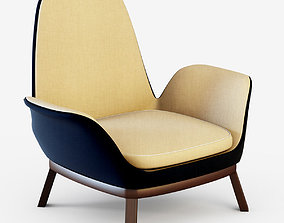 Contemporary fireside chair EVEN 3D model lounge