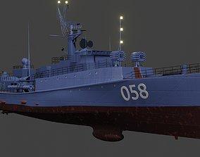 Small anti-submarine ship 1124 Grisha 3D