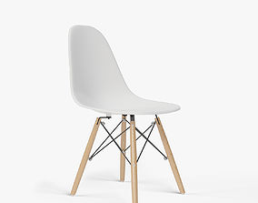 Eames Molded Plastic Side Chair Dowel Base furniture 3D