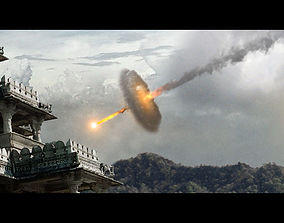 Explosion asset for Visual Effects Alien arrival by 3D