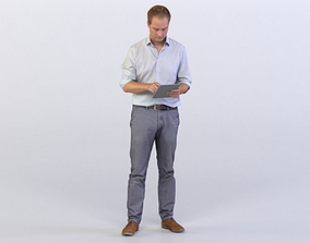 3D model Max 0065 Man looking at notes