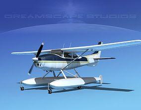 3D model Cessna 182 Skylane Sea V14