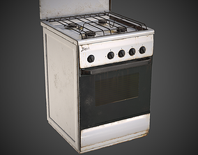 Stove 3D model low-poly
