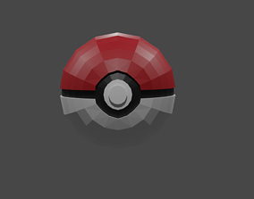 diy poke ball papercraft template and 3d model