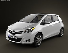 Toyota Yaris Vitz 5door 2012 3D