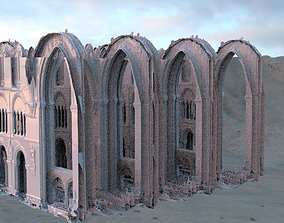 3D Cathedral interior sketchy taller longer