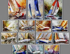 watercolor 3D model Collection of paintings