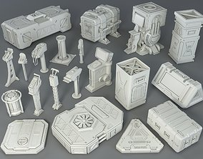 3D model Sci-Fi Props - 20 pieces - Collection - 1