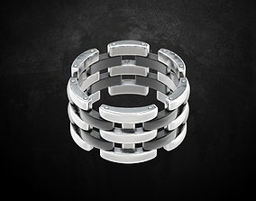 Fashion Ring 3D printable model fashion