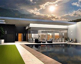 modern house K60 3D model