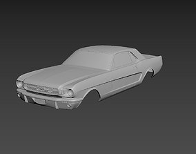 Ford Mustang Coupe 1965 Body For Print