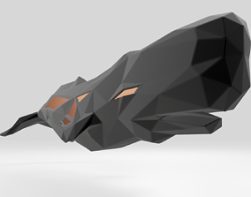 Polygonal Sperm Whale Parametric 3D printable model