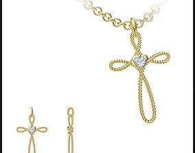 JCD Vintage style pendant jcd jewelry 3D print model