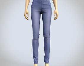 female jeans denim pants 3D