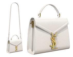 3D asset YSL Saint Laurent Cassandra Mini Top Bag White