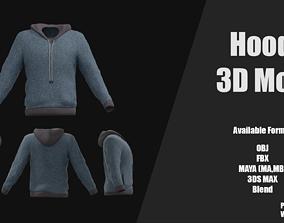 VR / AR ready Hoodie 3D Model