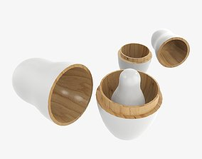 3D model Nesting doll set Matryoshka open mockup