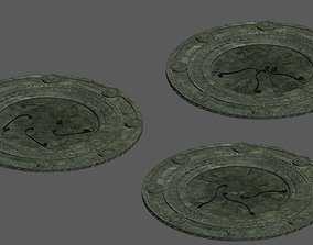 3D model Stone round chassis 02