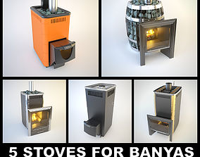 3D model 5 SiberStove Stoves for Banyas And