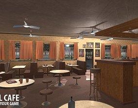 Old school cafe 3D model