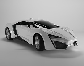 3D model Motors Lykan Hypersport 2012