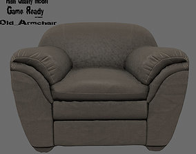 Armchair 3D asset low-poly armchair